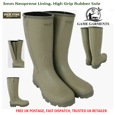 Wellies Jack Pyke Zip Wellington Ashcombe Zipped Neoprene Lined Boots Shooting • 75£