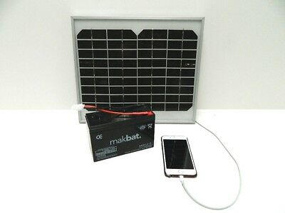 Solar Panel Charger For Viper Bait Boat Battery With USB For Phone • 59.99£