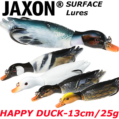 Surface DUCK Lure 13cm / 25g Top Water Jaxon Rattlin 3d Duck Weedless Hooks  • 9.99£