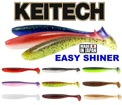 KEITECH EASY SHINER Scent Soft Lures 2   3   4  Fishing Paddle Tail Shad Jig UL • 7.99£