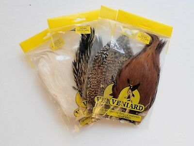 Veniard Indian Cock Capes For Fly Tying, Fly Tying Feathers Choice Of Colours • 12.99£