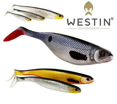 WESTIN Soft Plastic Bait Lure Fishing SHAD TEEZ 5cm Up To 27cm Paddle Tail Shad • 5.29£