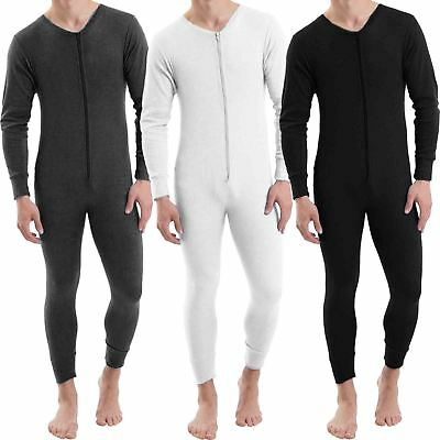 Mens Baselayer Thermal Jumpsuit All In One Underwear Playsuit Zip Up Bodysuit • 13.79£