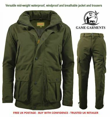 Stealth Jacket & Trousers Set. Hunter's Green Waterproof, Windproof, Breathable • 99.95£