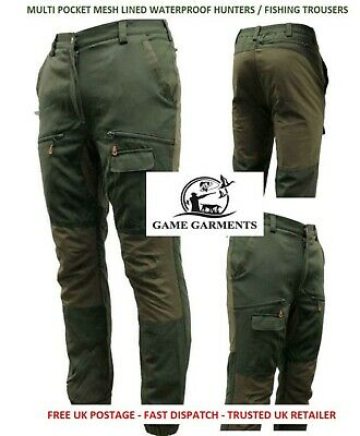 Game Scope Trousers, Multi Pocket Mesh Lined Waterproof Hunting / Fishing Pants • 48.95£