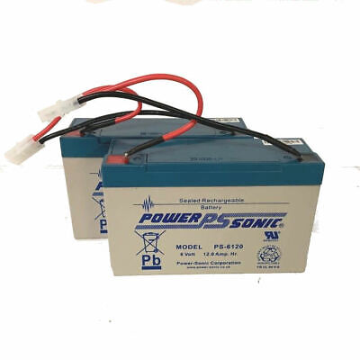 2 X 6 VOLT 12AH MICROCAT BAIT BOAT BATTERIES WITH LEADS 45% MORE POWER PS Brand • 39.99£
