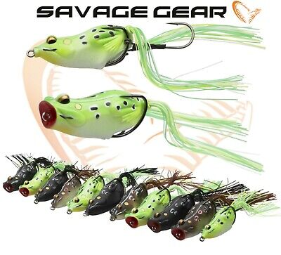 Savage Gear 3D Frog Fishing Hollow Lure Walk Pop Predator Tackle New Range Pike • 10.99£