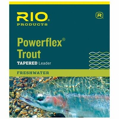 Rio Powerflex 9ft Trout Fishing Tapered Leaders • 12.99£