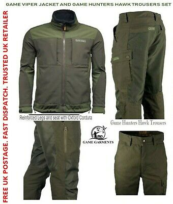 Game Hunters Hawk Trousers & Viper Soft Shell Jacket NEW Set. Hunting & Beating • 79.95£