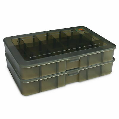 Rodeel Fishing Tackle Box Case With 17 Compartments Lure Storage Tray Bait Case • 11.99£