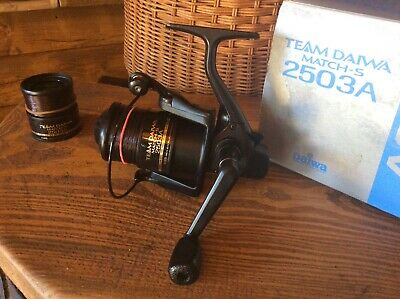 Team Daiwa 2503A Match S, Fishing Reel Boxed Superb/Spare Spool Feeder/Float • 25£