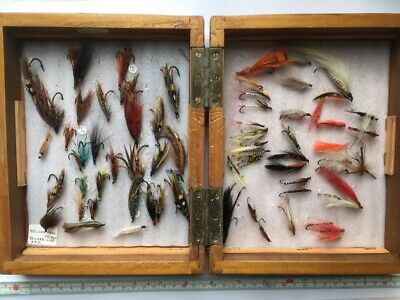 119 Boxed Vintage Salmon / Sea Trout  / Trout Flies - Some Hardy • 50£