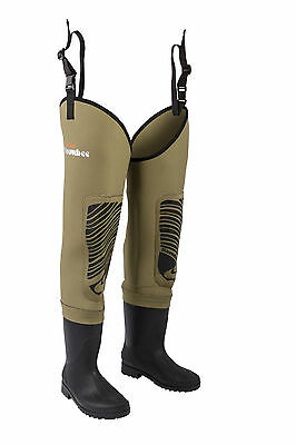 Snowbee Classic 4mm Neoprene Thigh Waders With Cleated Sole • 74.99£