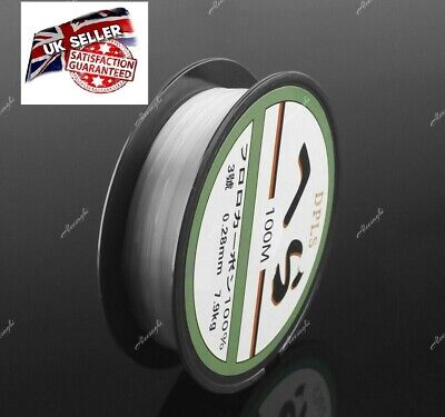 New 100m Spool Crystal Clear Red SMOOTH FISHING LINE For Coarse Match Pond Lakes • 2.85£