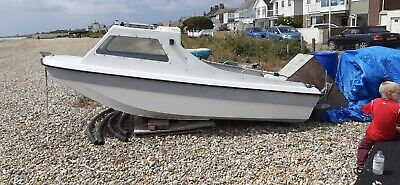 Cjr / Seahog Trio 14ft Sea Fishing Boat With 25hp Mariner Outboard With Trailer • 825£