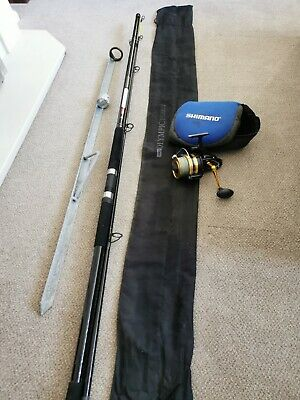 Beachcaster Leeda Fishing Rod With Bag & Penn 950SSM Reel With Case & Rod Stand • 15£