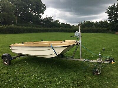 9ft Dory Style Day/Fishing/Tender Boat. With Trailer. Good Condition For Age. • 350£