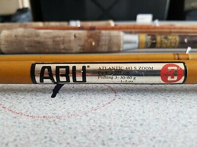 Rare Vintage ABU ATLANTIC 443 S ZOOM Rod And Others Split Cane Hardy Fishing Fly • 35£