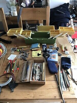 Vintage Mibro Fishing Box And Content • 15£