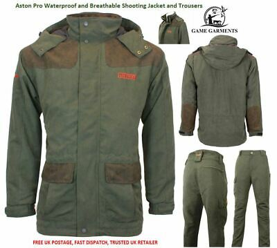 Aston Jacket & Trousers Suit Set Mid Weight Waterproof Breathable SALE Shooting  • 89.95£