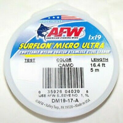 AFW Surflon Micro Ultra 19 Strand Coated Wire Trace Leader • 11.95£