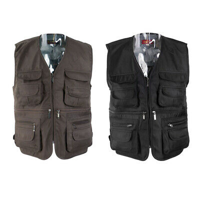 Casual Work Utility Hunting Travels Sports Vest For Men Women With Multiple • 12.69£