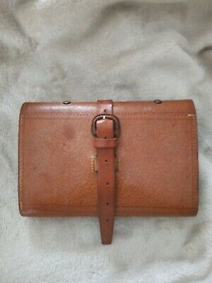 Vintage Leather Fly Wallet/Cast Holder With A Selection Of Flies • 75£