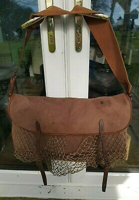Large Game Bag Brady Halesowen Shooting Hunting Fishing Canvas Leather  • 89£