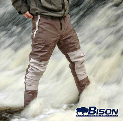 Bison Breathable Stocking Foot Waist Waders M,l Xl,xxl Free Next Day Uk Delivery • 74.99£