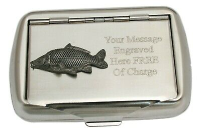 Common Carp Tobacco Hand Rolling Cigarette Roll Ups Tin Course Fishing Gift 80 • 14.99£