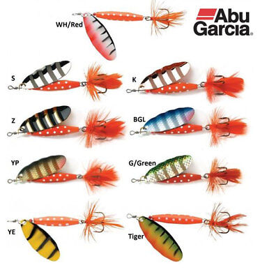 Abu Garcia Classic Reflex Red Spinner Lures - All Colours & Sizes • 2.99£