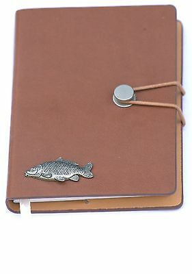 Common Carp Pewter Design A6 Notebook Pocket Size Notepad Ideal Fishing Gift 80 • 14.99£