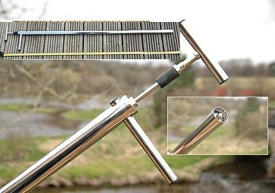 LONG STAINLESS STEEL SEA FISHING  BAIT PUMP 22,28 Or 50mm Dia 110cm Long • 42.99£