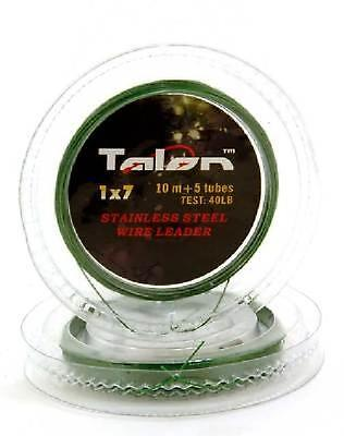 10m Of TALON STAINLESS STEEL WIRE TRACE WIRE &  CRIMPS • 2.99£