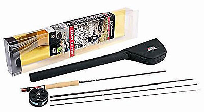 Abu Garcia 4 Piece Carbon Diplomat 9ft 904 5/6 Fly Rod With Reel Combo • 73.87£