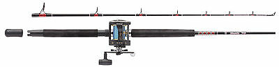 Abu Garcia 6 & 7 Ft Muscle Tip Boat Rod & Reel Solid Glass Tip & Multipler Reel • 65.21£