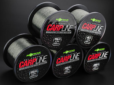 Korda Carp Line Fishing Monofilament Mainline 1000m Green – All Sizes • 14.90£