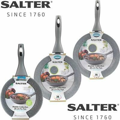 Salter Marblestone Non Stick Frying Pan Induction Base Cool Handle 20 24cm 28cm • 19.95£