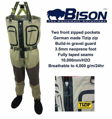 Bison Zip Front Breathable Chest Waders • 129.99£