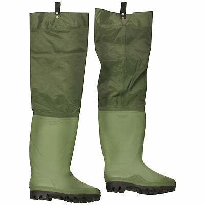 Boot Size 10 Nylon/Pvc Waterproof Hip/Thigh Waders Fly Fishing • 16.99£