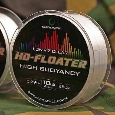 Gardner HD Floater Fishing Carp Line - ALL SIZES - BROWN OR CLEAR  • 5.99£