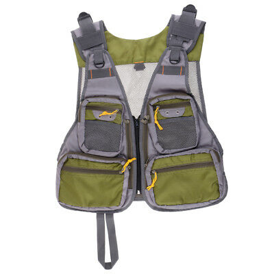 Mesh Fly Fishing Vest Pack Breathable Fishing Photography Hunting Jackets • 20.97£