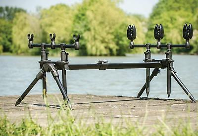 Leeda Rogue Easy Assembled Carp 3 In 1 Rod Pod + Carry Case Carp Fishing • 53.95£