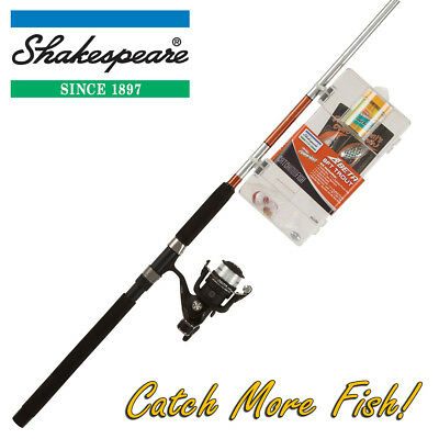 Shakespeare 8ft Trout Fishing Rod, Reel & Tackle Box Combo 'Catch More Fish'  • 39.99£