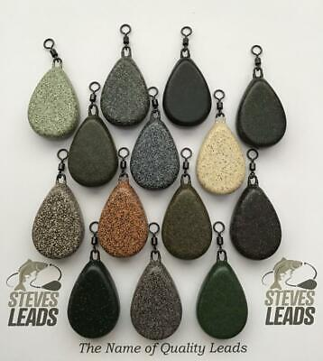 10 X Flat Pear Carp Leads Smooth/Textured All Sizes Available • 12.42£
