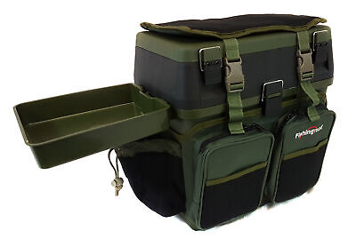 Fishingmad Fishing Tackle Roving Seat Box With Side Tray & Liner Options • 29.99£