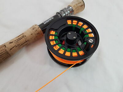 Black Alloy Fly Reel Complete With Flyline And Backing • 34.99£