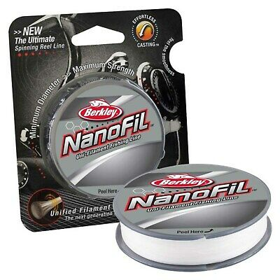 Berkley Nanofil Clear CLR Mist Uni-Filament Spin Fishing Line 125m & 270m • 15£