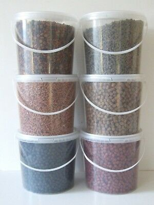 Feeder Pellets 14 Flavours 1.500kg Carry Buckets , Carp, Barbel, Fishing Baits • 11.99£