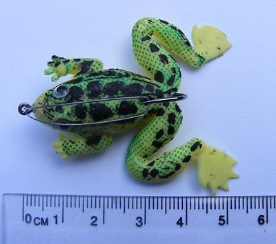 5 Cm, 5g, Yellow/Black, Artificial Frogs, (4 Pack), 2/0 Weedless Hook • 1.99£